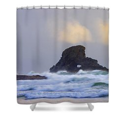 Consumed By The Sea Shower Curtain by Mike  Dawson