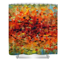 Contemporary Art Nineteen Shower Curtain