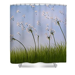 Contemporary Landscape Art Make A Wish By Amy Giacomelli Shower Curtain