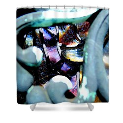 Contrasting Detail Shower Curtain