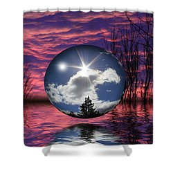Contrasting Skies Shower Curtain