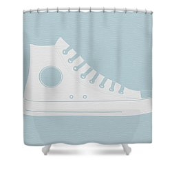 Converse Shoe Shower Curtain by Naxart Studio