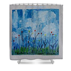 Conviction Shower Curtain by Sonali Gangane