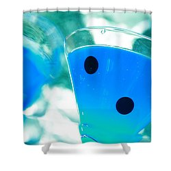 Cool Blue  Shower Curtain by Toni Hopper