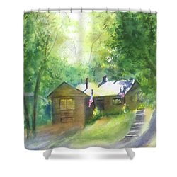 Cool Colorado Cabin Shower Curtain