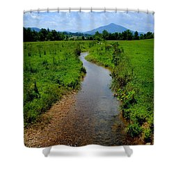 Cool Mountain Stream Shower Curtain by Frozen in Time Fine Art Photography