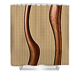 Copper Curve Shower Curtain