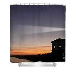 Coquille River Lighthouse Shower Curtain by John Shaw and Photo Researchers