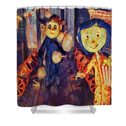Coraline Circus Shower Curtain