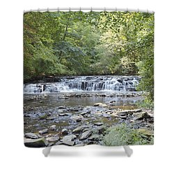Shower Curtain featuring the photograph Corbetts Glen Waterfall by William Norton