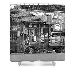 Corner Gas Station Shower Curtain