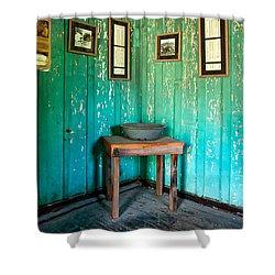 Corner Of Slave Cabin At San Francisco Plantation Shower Curtain by Kathleen K Parker