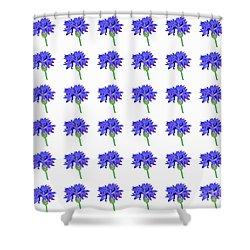 Cornflowers Shower Curtain by Barbara Moignard