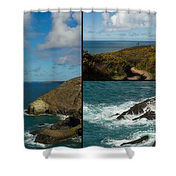 Cornwall North Coast Shower Curtain by Brian Roscorla