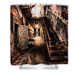 Corridor Creep Shower Curtain by Andrew Paranavitana
