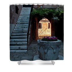 Corte Della Comare Shower Curtain by Heiko Koehrer-Wagner