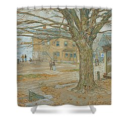 Cos Cob In November Shower Curtain by Childe Hassam