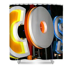 Cosi In Neon Lights Shower Curtain