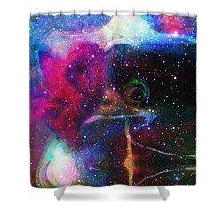 Cosmic Connection Shower Curtain by Linda Sannuti