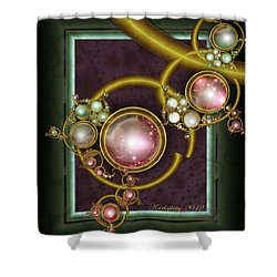 Cosmic Crystals Shower Curtain