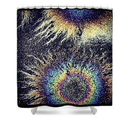 Cosmic Oil-b Shower Curtain