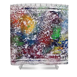 Shower Curtain featuring the painting Cosmos by Alys Caviness-Gober