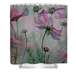 Cosmos Shower Curtain by Ruth Kamenev