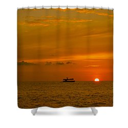 Shower Curtain featuring the photograph Costa Rica Sunset by Eric Tressler