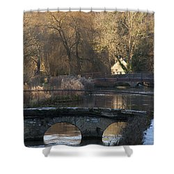 Cotswold River Scene Shower Curtain