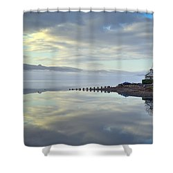 Cottage On The Shore Shower Curtain by Gary Eason