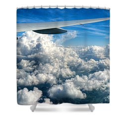 Cotton Balls Shower Curtain by Syed Aqueel