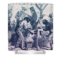 Cotton Gin, 19th Century Shower Curtain by Science Source