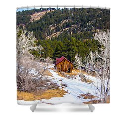 Shower Curtain featuring the photograph Country Barn by Shannon Harrington