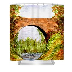 Country Bridge Shower Curtain