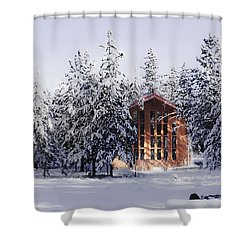 Shower Curtain featuring the photograph Country Christmas by Janie Johnson