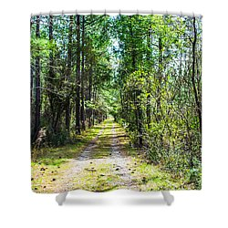 Shower Curtain featuring the photograph Country Path by Shannon Harrington