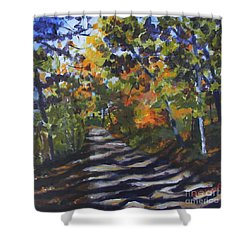 Country Road Shower Curtain by Jan Bennicoff