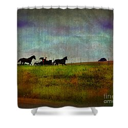 Country Wagon 2 Shower Curtain by Perry Webster