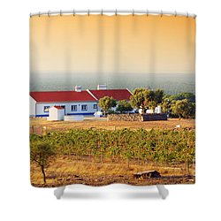 Countryside House Shower Curtain by Carlos Caetano