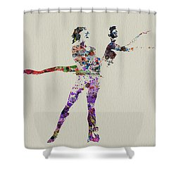 Couple Dancing Shower Curtain by Naxart Studio