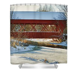 Covered Bridge Shower Curtain by Eunice Gibb