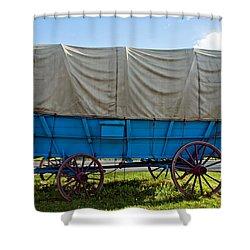 Covered Wagon Shower Curtain by Steve Harrington