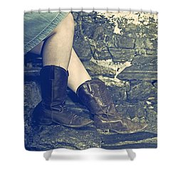 Cowboy Boots Shower Curtain by Joana Kruse