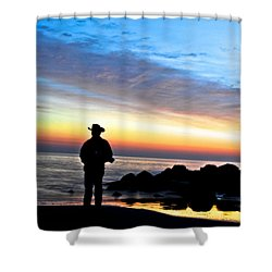 Cowboy Sunrise Shower Curtain