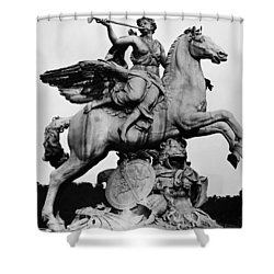 Coysevox: Fame And Pegasus Shower Curtain by Granger