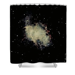 Crab Nebula Shower Curtain by Hale Observatories