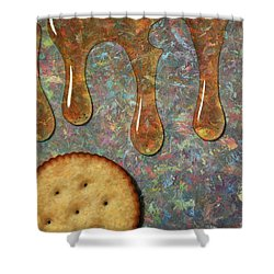 Cracker Honey Shower Curtain by James W Johnson