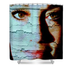 Crackled View Shower Curtain