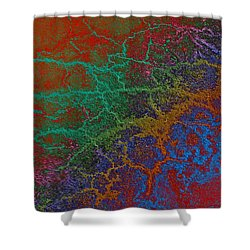 Cracks Shower Curtain