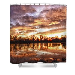 Crane Hollow Sunrise Boulder County Colorado Hdr Shower Curtain by James BO  Insogna